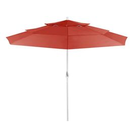 10' Brick 3-Sectioned Crank/Tilt Market Umbrella