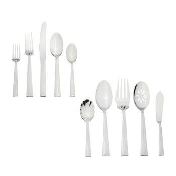 Pfaltzgraff® Basics Riverside Flatware Set, 53-Piece