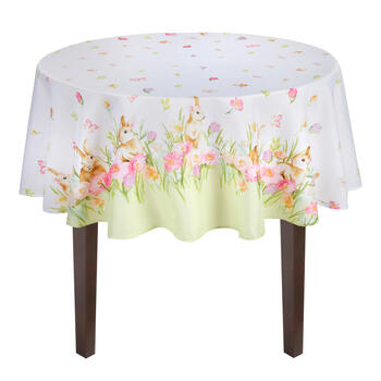 Flower Bunnies Tablecloth view 2