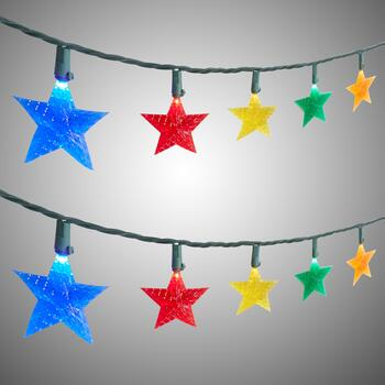 8.5' LED Stars String Lights, Set of 2