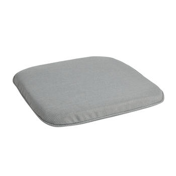 Solid Gray Woven Indoor/Outdoor Squared Seat Pad view 1