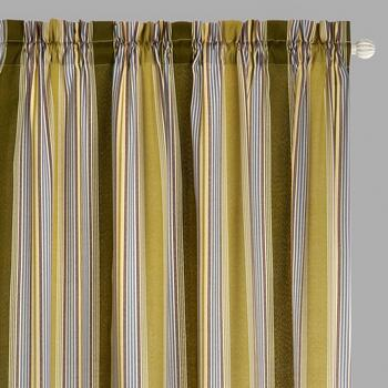 "Traditions by Waverly® 84"" Creme Stripes Rod Pocket Window Curtains, Set of 2"