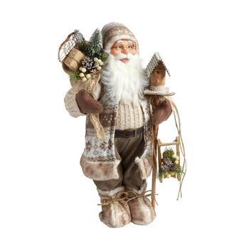 "24"" Cream Decorative Woodland Santa"