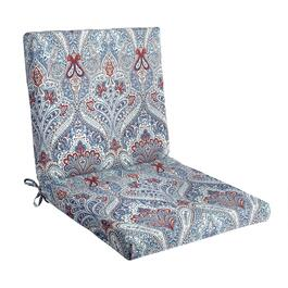 Paisley Blue Indoor/Outdoor Mid-Back Chair Pad