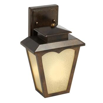 "12"" Bronze Outdoor LED Lantern Wall Luminaire"