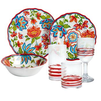 Red Bohemian Dinnerware Collection