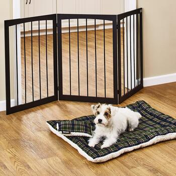 Pet Gate & Pet Bed With Pillow