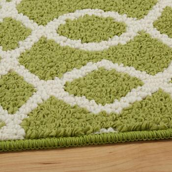3-Piece Green/Ivory Geo Rug Set view 2