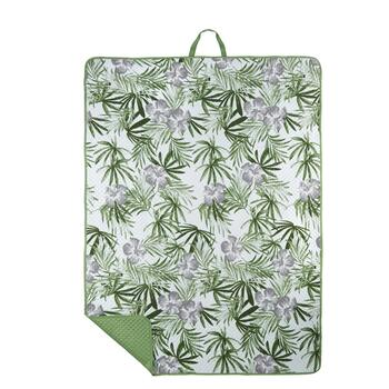 Oversized Palm Leaves Beach Blanket and Tote