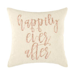 """Happily Ever After"" Beaded Square Throw Pillow view 1"