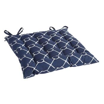 Nautical Knots Indoor/Outdoor Tufted Square Seat Pad