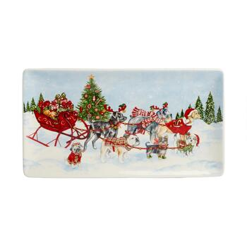 Sled Dogs Rectangular Tray view 2