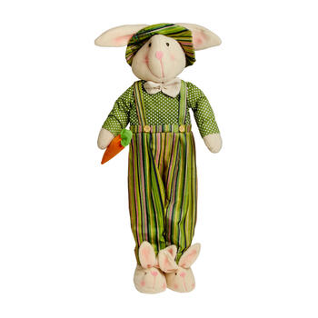 "29"" Green Polka Dots Standing Boy Bunny view 1"