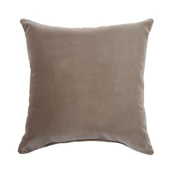 "18"" Solid Velvet Corduroy Square Throw Pillow"