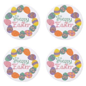 "15"" ""Happy Easter"" Round Cotton Placemats, Set of 4 view 1"