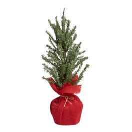 20 snowy faux twig red burlap bottom tree - Christmas Tree Shop Florida