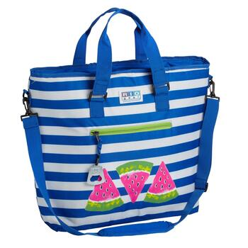 Watermelon Slices Blue Stripe Deluxe Insulated Cooler Tote