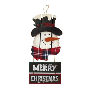 3pc  Xcty Snowman Sign