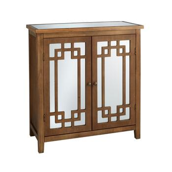 The Grainhouse Trade Brown 2 Door Mirrored Cabinet