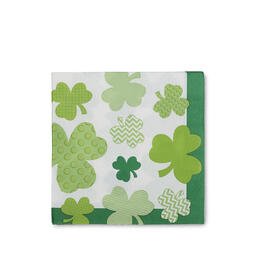 St. Patrick's Day Clover Fun Lunch Napkins 60-Count view 1