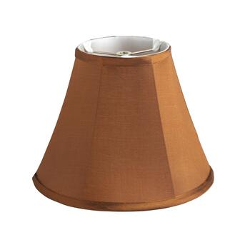 "10"" Neutral Silk-Style Trim Empire Lamp Shade"