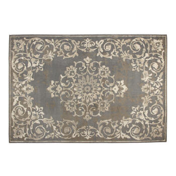 6.6'x9.5' Gray/Beige Traditional Medallion Area Rug view 1