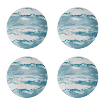 The Grainhouse™ Marble Salad Plates, Set of 4