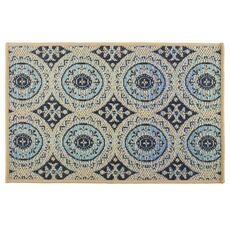 Large Medallion Pattern All Weather Area Rug
