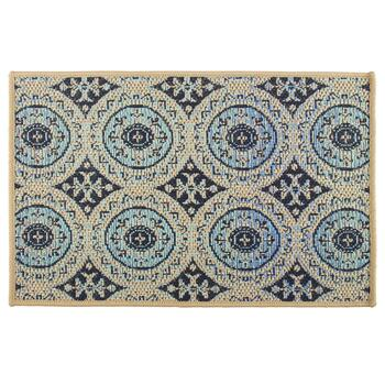 Large Medallion Pattern All-Weather Area Rug