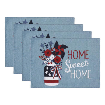 """Home Sweet Home"" Fireworks Beaded Placemats, Set of 4 view 1"