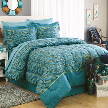 Peacock Feathers Complete Comforter Set Christmas Tree Shops And That Home Decor Furniture Gifts Store