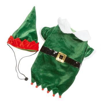 Plush Pet Elf Suit