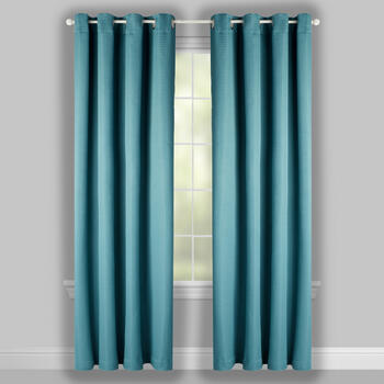 "84"" Roman Solid Grommet Top Window Curtains, Set of 2 view 2"