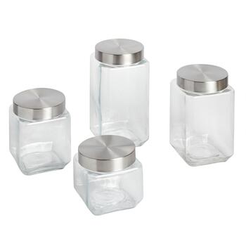 Glass Storage Canister Set, 4-Piece