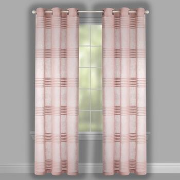 "84"" Striped Chenille Grommet Window Curtains, Set of 2 view 2"