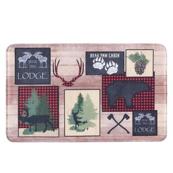 """Moose Trail Lodge"" Patch Cushioned Floor Mat"
