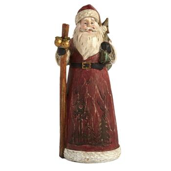 "10"" Red Poly Santa Decor"