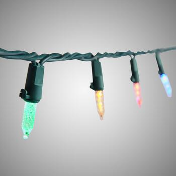 24' LED Multi Color Sync Dual String Lights, 100-Count