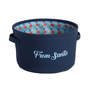 """From Santa"" Pet Storage Basket view 1"