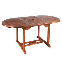 Torino Teak Wood Patio Table with Extension