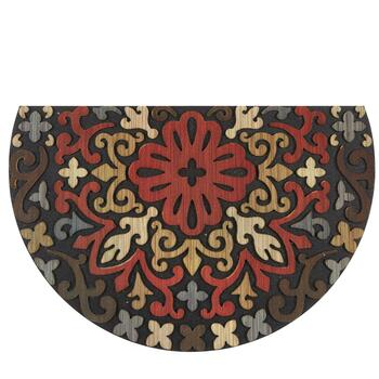 "Mohawk Home 23""x35"" Red Medallion Slice Door Mat"