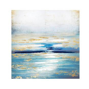 "30"" Abstract Water Canvas Wall Art"