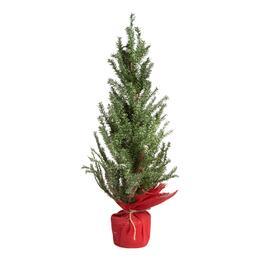 28 snowy faux twig red burlap bottom tree - Christmas Tree Shop Florida