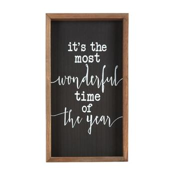 "8""x14"" ""Most Wonderful Time of Year"" Wood Wall Decor"