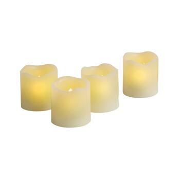 "2.5"" Flameless LED Pillar Candles with Timers, Set of 4"