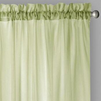Voile Rod Pocket Window Curtains, Set of 2