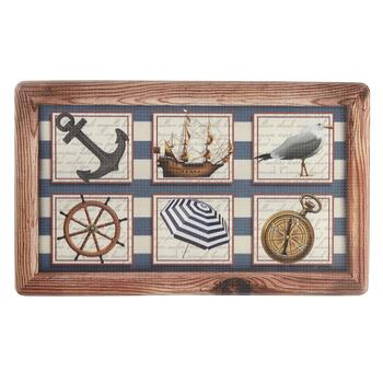 Nautical Icons Cushioned Kitchen Mat