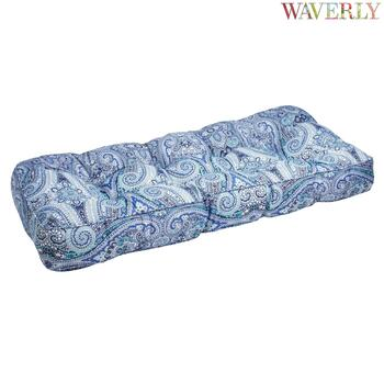 Waverly® Blue Paisley Indoor/Outdoor Double-U Bench Seat Pad