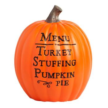 "11"" ""Menu"" Etched Pumpkin"