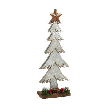 "17.5"" Wood/Metal Christmas Tree Decor view 1"